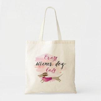 Crazy Wiener Dog Lady Tote Bag