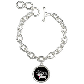Crazy Wiener Dog Mom | Dachshund Bracelet