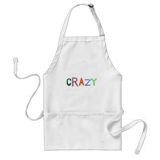 Crazy wild bold colorful goofy fun silly word art adult apron