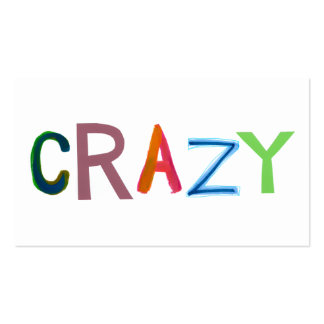 Crazy wild bold colorful goofy fun silly word art business card