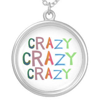 Crazy wild bold colorful goofy fun silly word art pendants