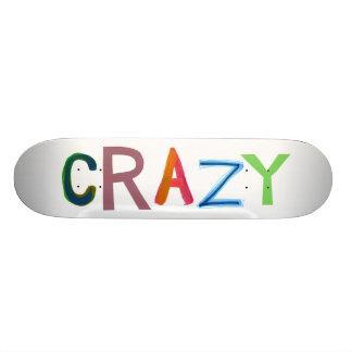 Crazy wild bold colorful goofy fun silly word art skate board