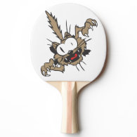 Crazy Wild Cat Ping Pong Paddle