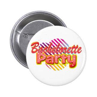 crazy wild fun retro bachelorette party bridal pin