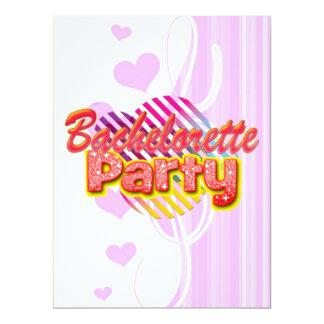 crazy wild fun retro bachelorette party bridal personalized invitation