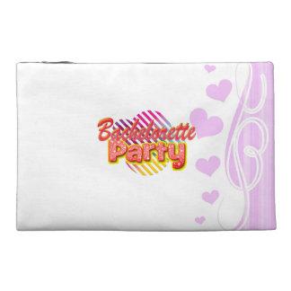 crazy wild fun retro bachelorette party bridal travel accessory bags