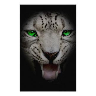 Crazy Wild Leopard Animal Cat Stationery