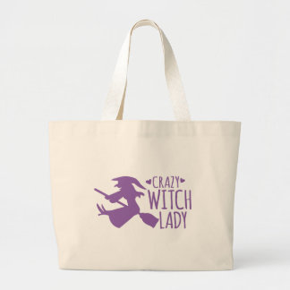 Crazy Witch Lady Jumbo Tote Bag