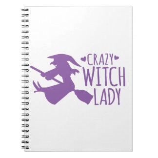 Crazy Witch Lady Notebook
