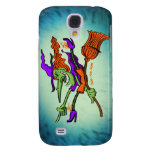 Crazy Witch Riding her Broomstick Samsung Galaxy S4 Cases