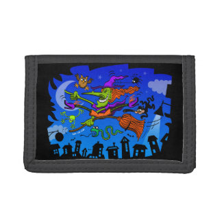 Crazy Witch Tri-fold Wallets