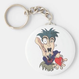 Crazy With Heart Keychain