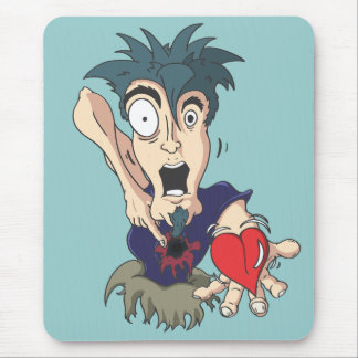 Crazy With Heart Mouse Pad