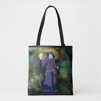 Crazy Wiz Biz, Space Wizard Art Tote Bag
