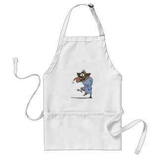 crazy wolf or hyena adult apron