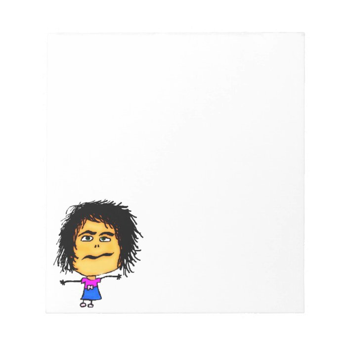 Crazy Woman Cartoon Notepad Zazzle Com