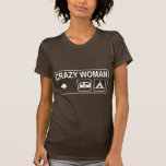 Crazy Woman (pointing to your right as the wearer) T-shirt