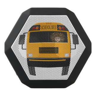 Crazy Worn Out Frazzled Bus & Bus Driver Black Bluetooth Speaker