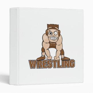 crazy wrestler wrestling design 3 ring binders