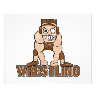 crazy wrestler wrestling design flyers