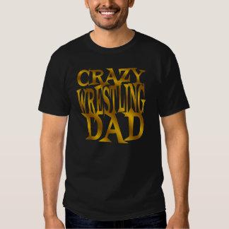 Crazy Wrestling Dad in Gold T-Shirt