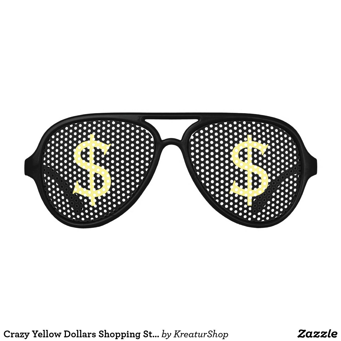 Crazy Yellow Dollars Shopping Stare