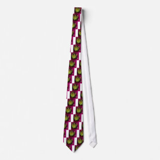 Crazy Yellow Stamens Surrounded by Pink Petals Neck Tie