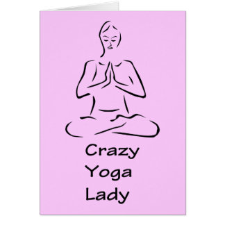 Crazy Yoga Lady Greeting Cards