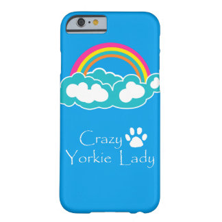 Crazy Yorkie Lady Barely There iPhone 6 Case