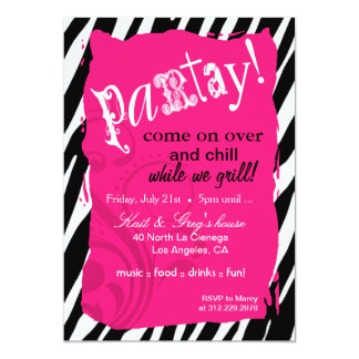 Crazy Zebra pick your own background color Party Card