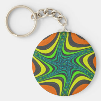 Crazy Zebra Stripes in Various Colors and Patterns Keychain