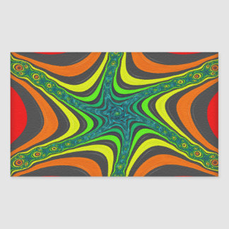 Crazy Zebra Stripes in Various Colors and Patterns Rectangular Sticker
