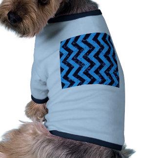 crazy zigzag blue black doggie tshirt
