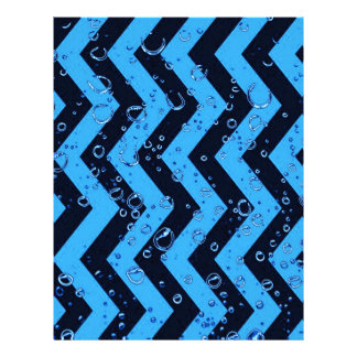 crazy zigzag blue black personalized letterhead