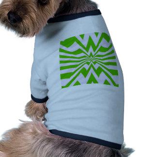 crazy zigzag green wave dog tee shirt