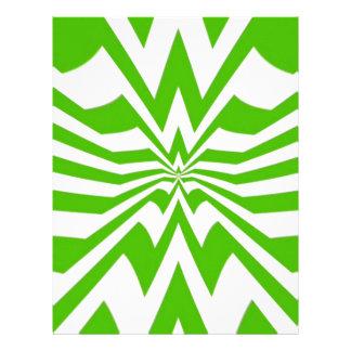 crazy zigzag green wave letterhead design