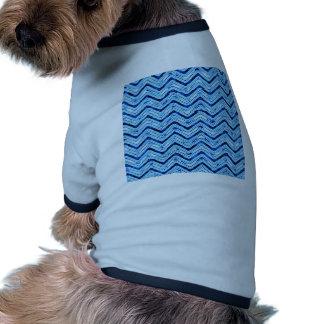 crazy zigzag ice blue dog tee shirt