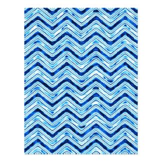 crazy zigzag ice blue letterhead design