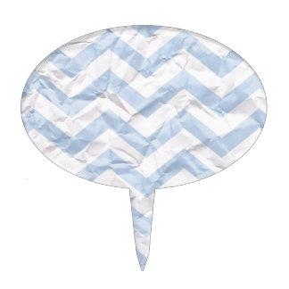 crazy zigzag paper blue cake topper