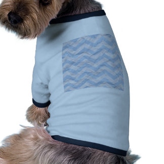 crazy zigzag paper blue dog tee