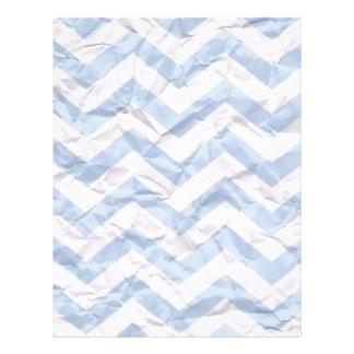 crazy zigzag paper blue letterhead template