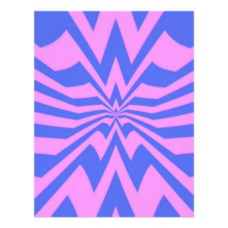 crazy zigzag pink wave customized letterhead