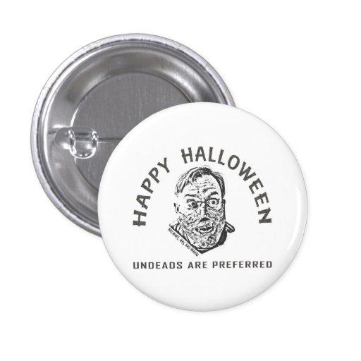 Crazy Zombie - Halloween Pin Redondo De 1 Pulgada