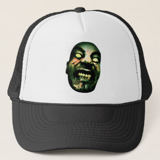 Crazy Zombie Man Face Trucker Hat