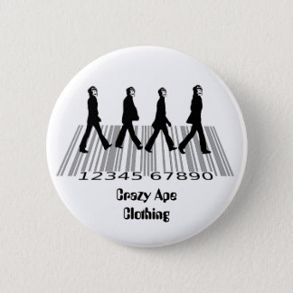 crazyapecommercialroad, pinback button
