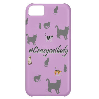 #Crazycatlady phone cover