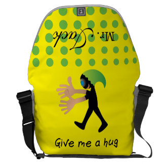 Crazydeal p619 cool crazy funny Give me a hug Courier Bag