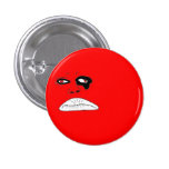 CrazyFaceDesign- Red Pinback Buttons