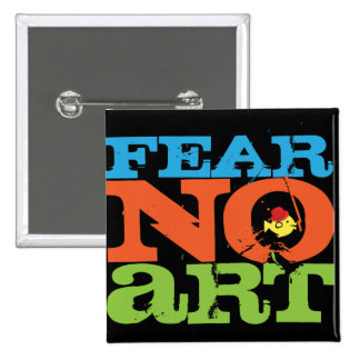 CRAZYFISH fear no art Pinback Button