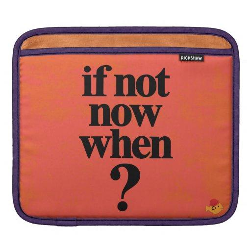 CRAZYFISH if not now when? iPad Sleeve
